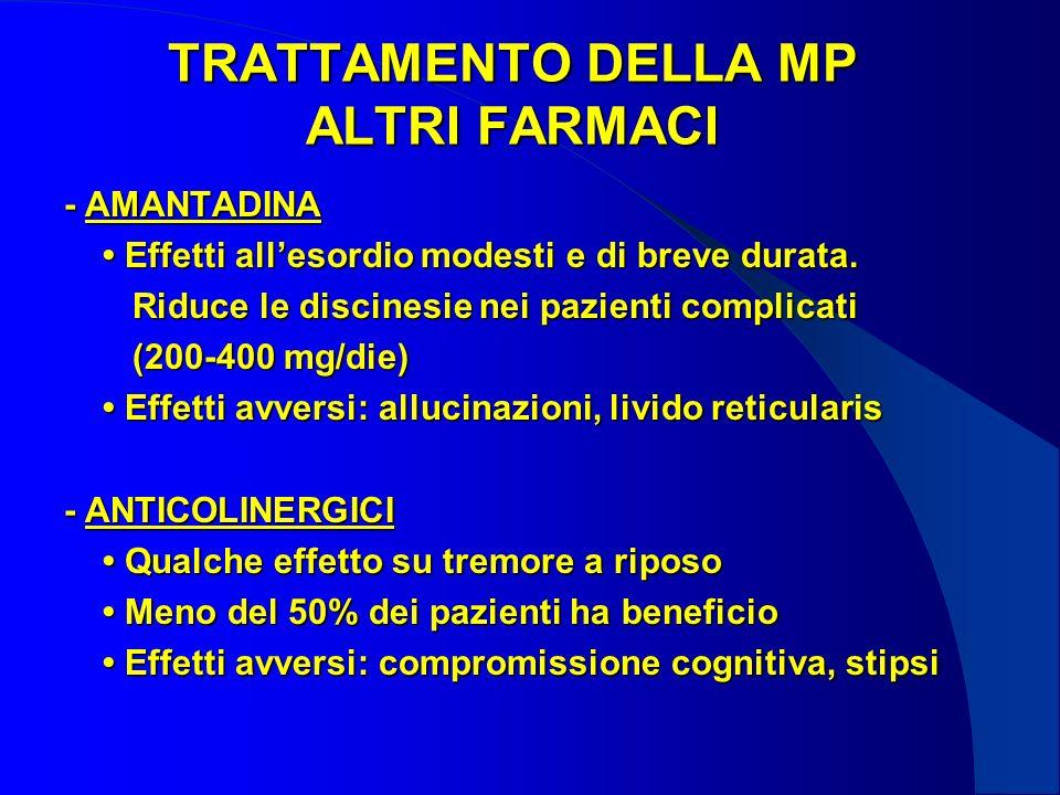 TRATTAMENTO DELLA MP ALTRI FARMACI