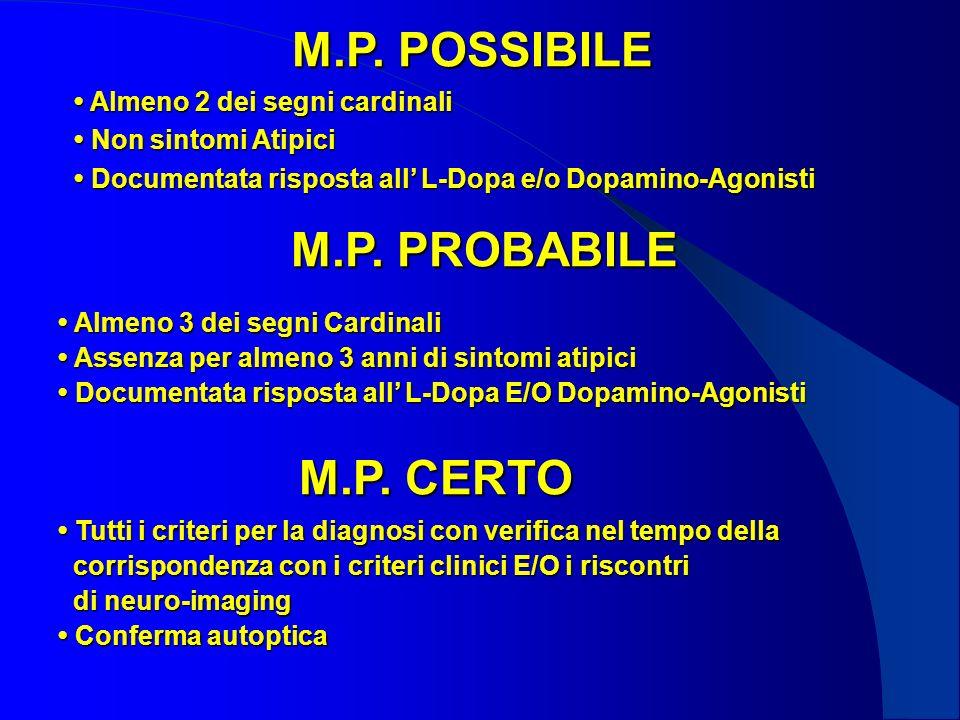 M.P. POSSIBILE M.P. PROBABILE M.P. CERTO