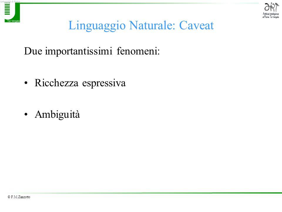 Linguaggio Naturale: Caveat