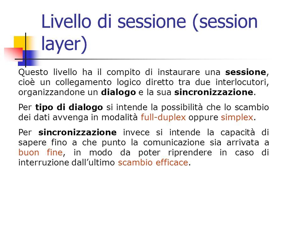 Livello di sessione (session layer)
