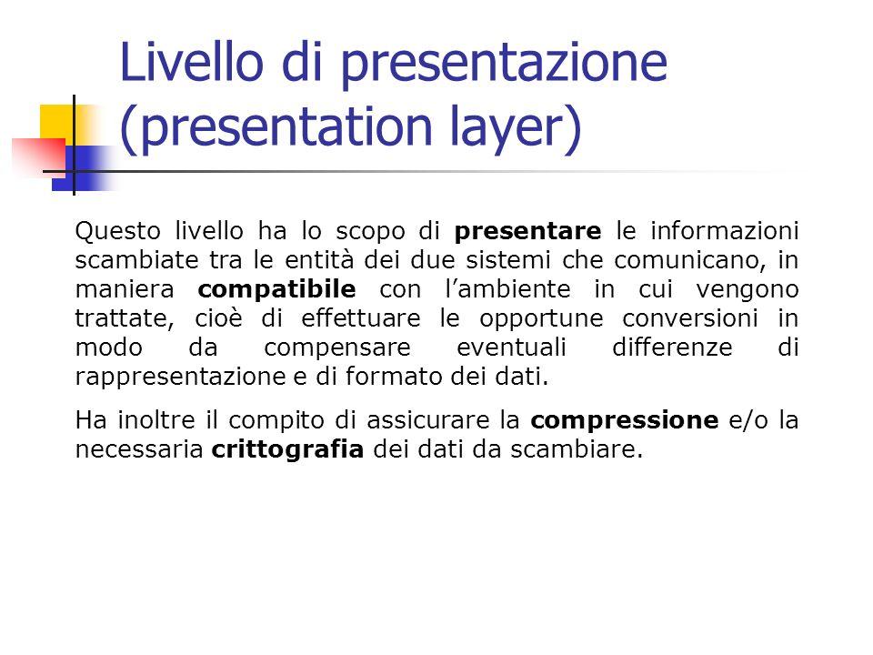 Livello di presentazione (presentation layer)