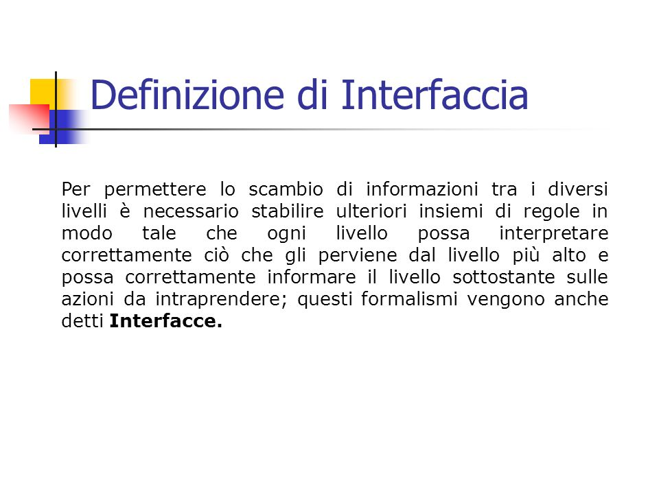 Definizione di Interfaccia