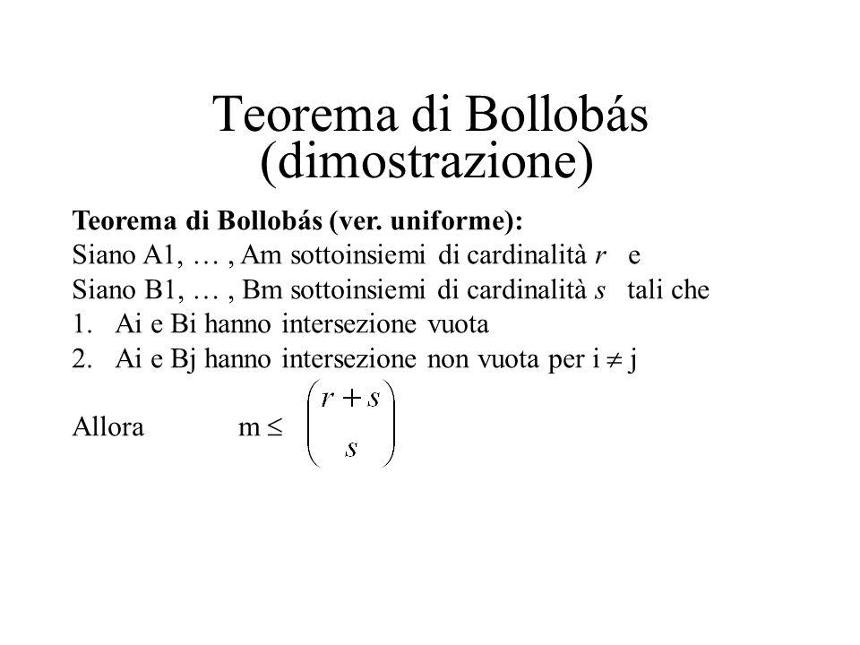 Teorema di Bollobás (dimostrazione)