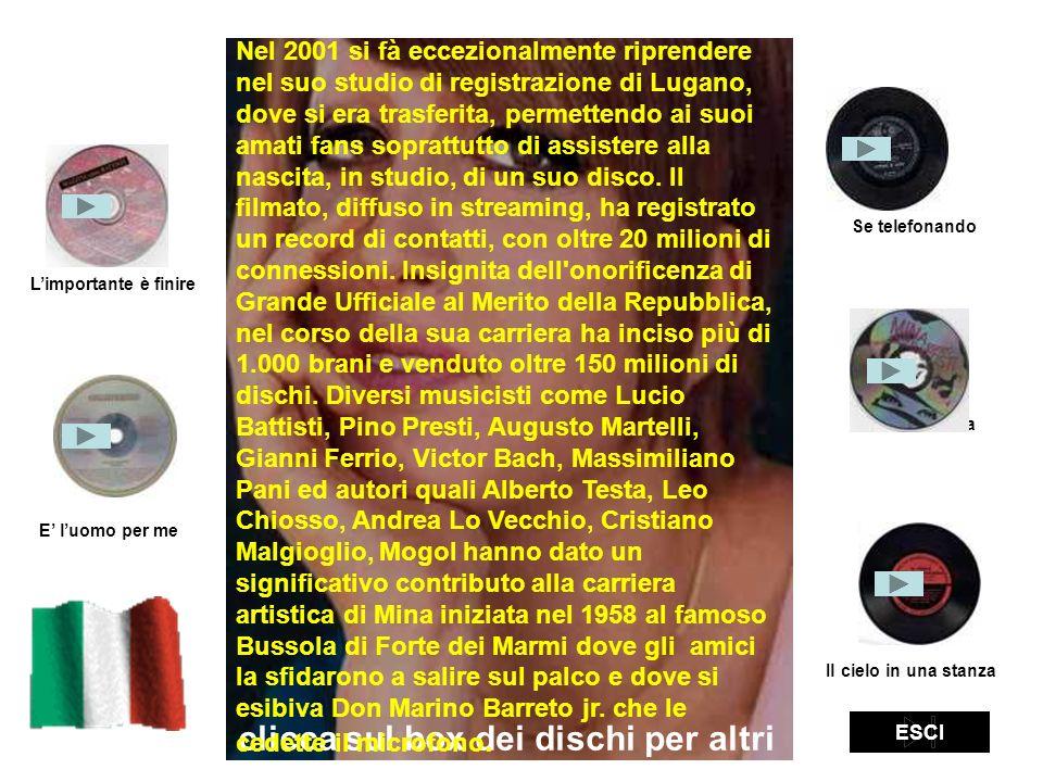 clicca sul box dei dischi per altri brani