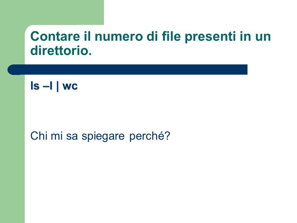 Contare il numero di file presenti in un direttorio.