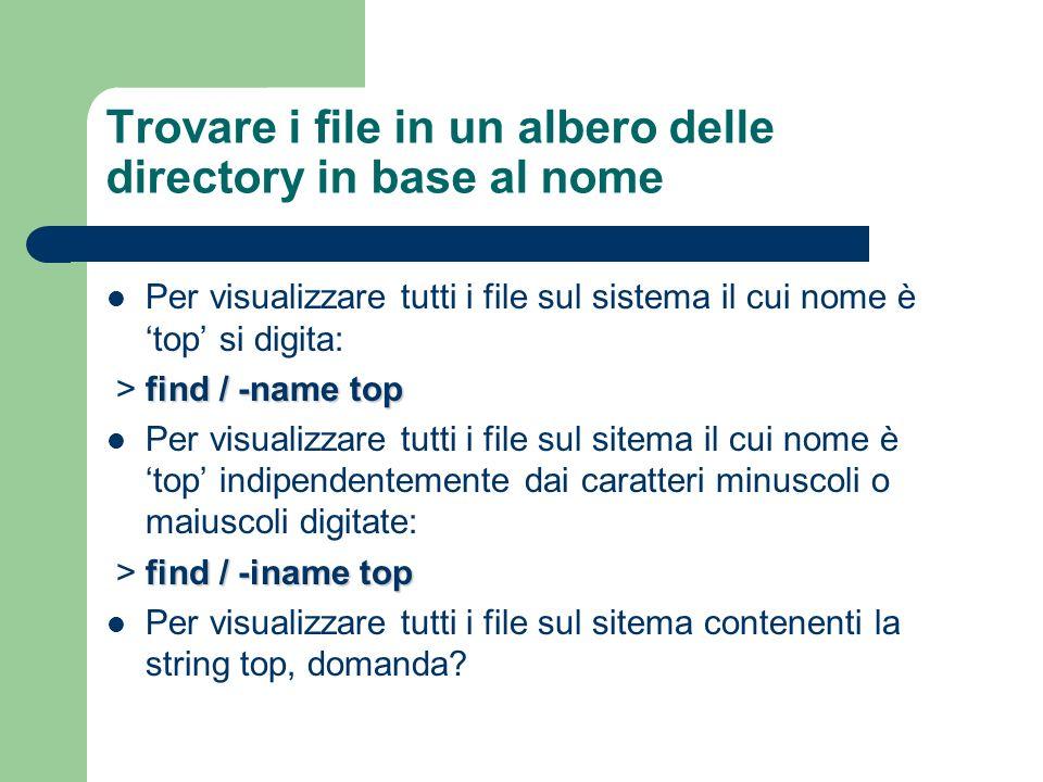 Trovare i file in un albero delle directory in base al nome