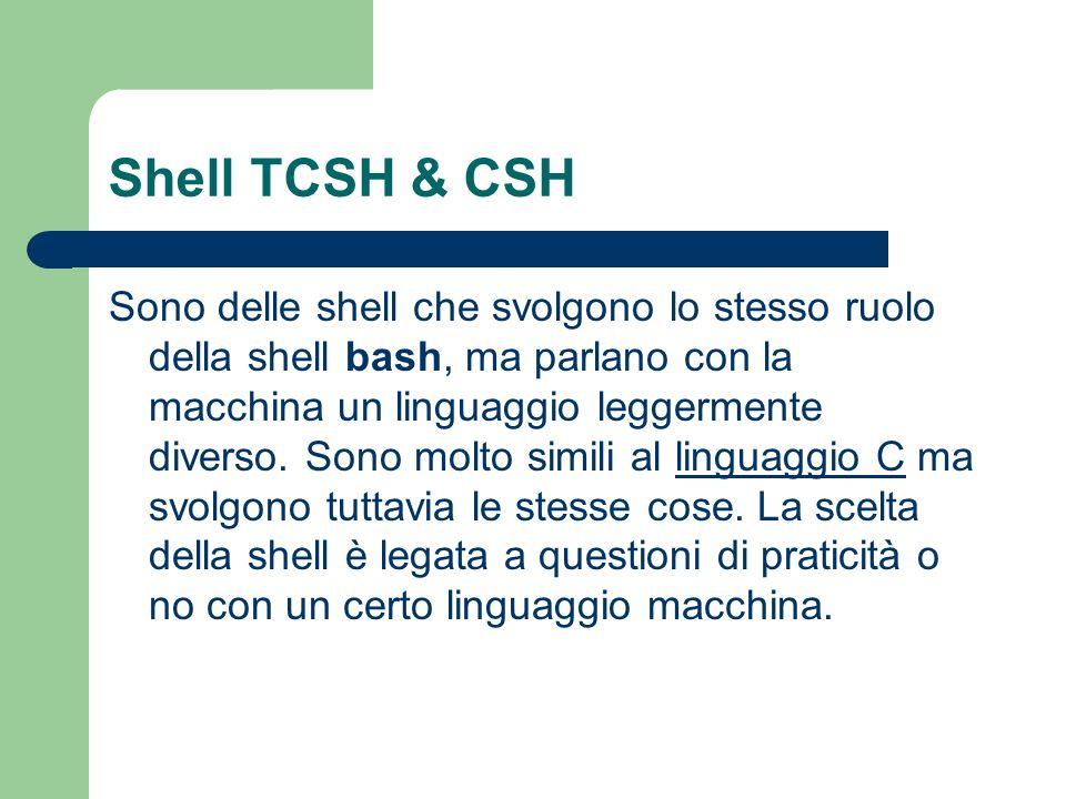 Shell TCSH & CSH