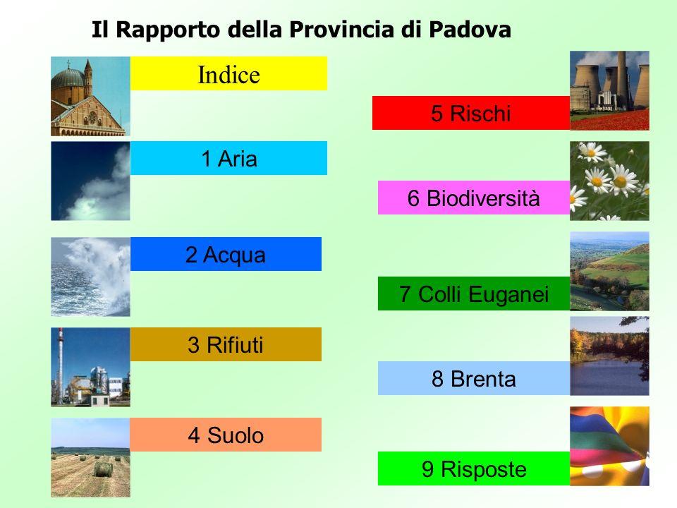 Indice Il Rapporto della Provincia di Padova 5 Rischi 1 Aria