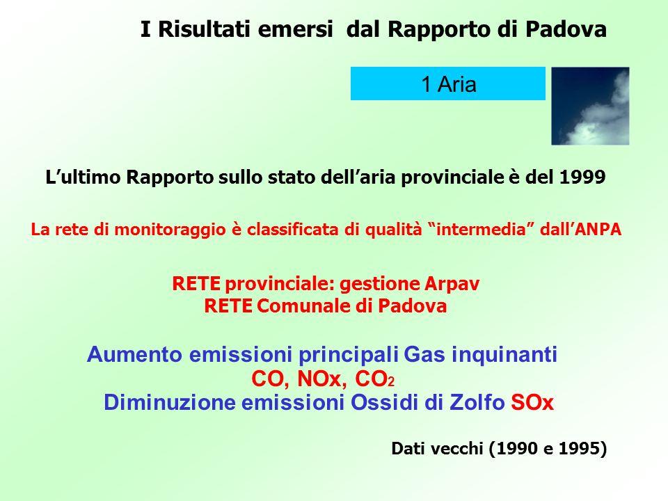I Risultati emersi dal Rapporto di Padova