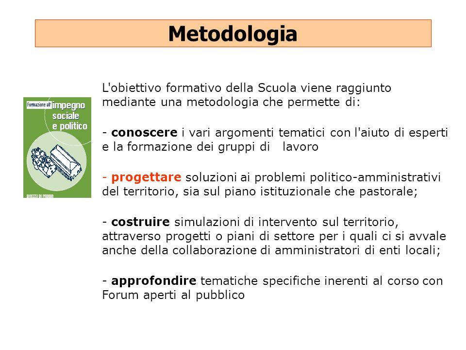 Metodologia L obiettivo formativo della Scuola viene raggiunto mediante una metodologia che permette di: