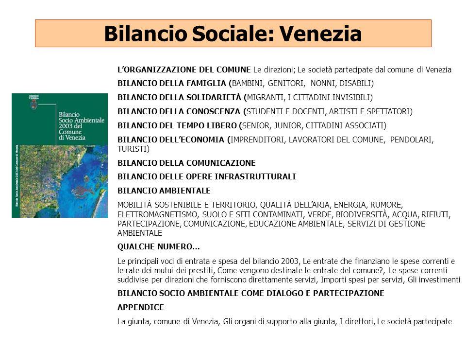Bilancio Sociale: Venezia