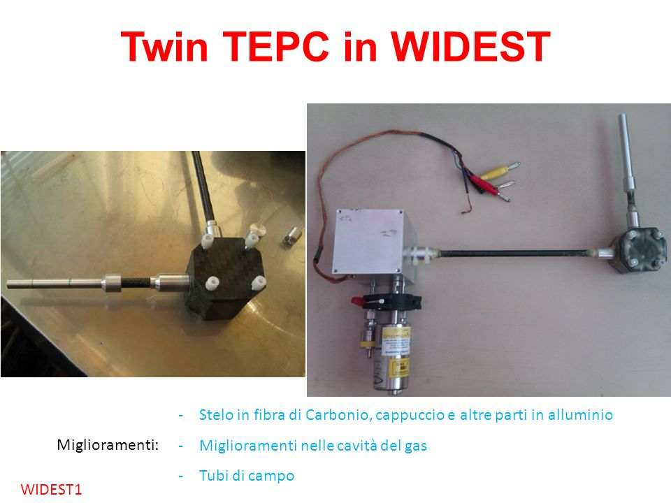 Twin TEPC in WIDESTThe detector has been built and it is ready to be tested.