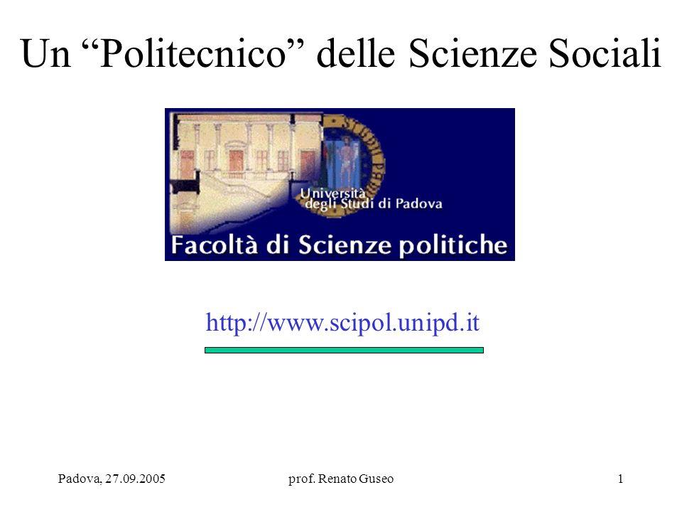 Un Politecnico delle Scienze Sociali