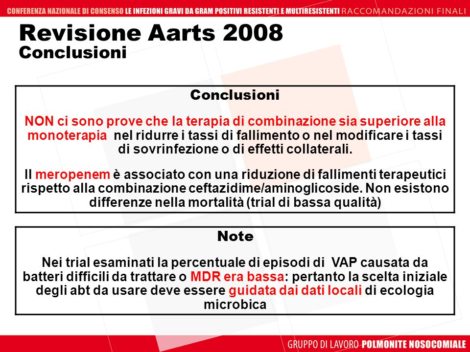 Revisione Aarts 2008 Conclusioni