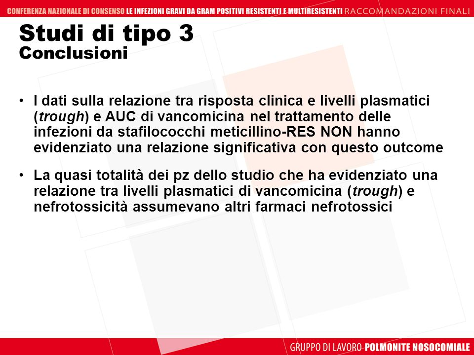 Studi di tipo 3 Conclusioni