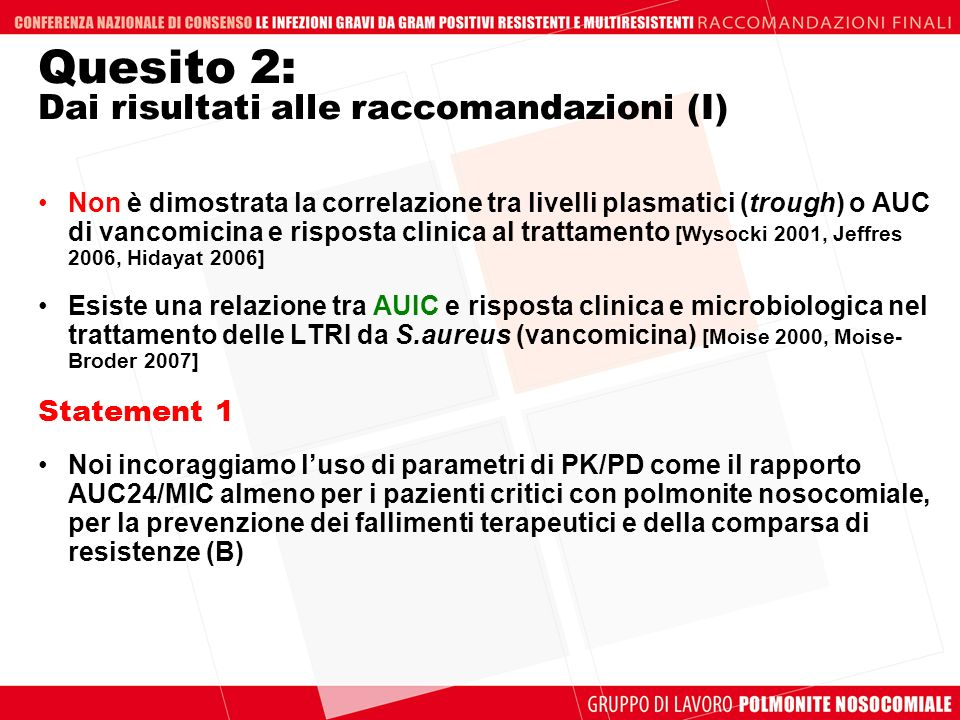 Quesito 2: Dai risultati alle raccomandazioni (I)