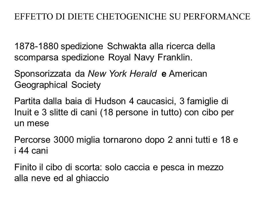 EFFETTO DI DIETE CHETOGENICHE SU PERFORMANCE