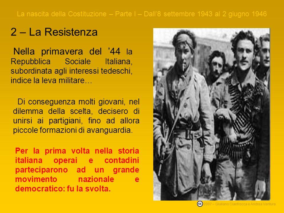 La nascita della Costituzione – Parte I – Dall'8 settembre 1943 al 2 giugno 1946
