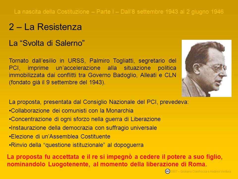 2 – La Resistenza La Svolta di Salerno