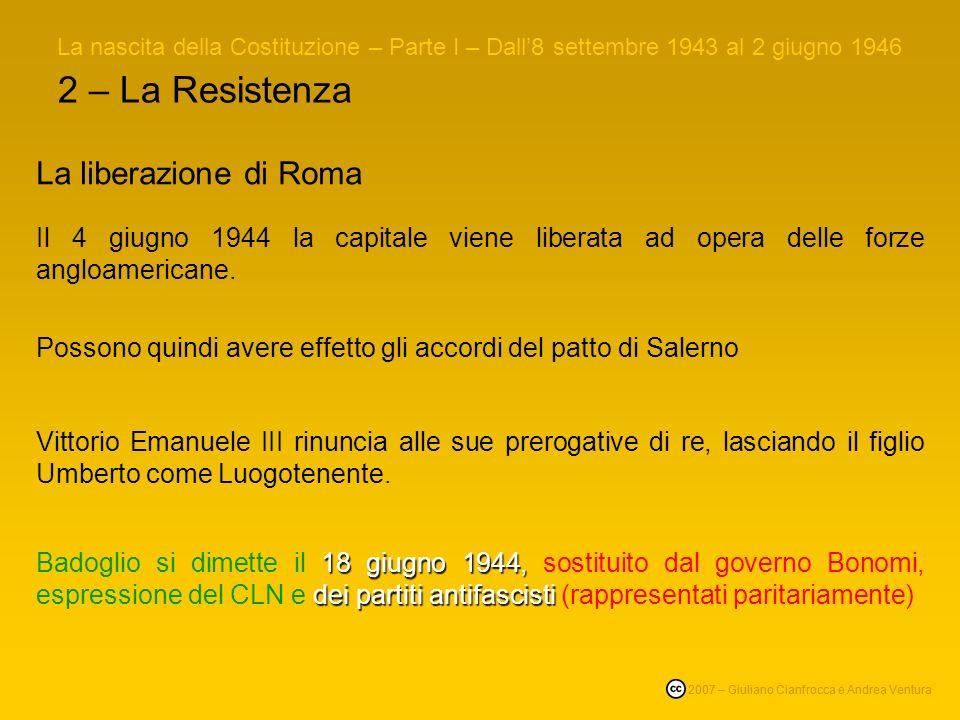 2 – La Resistenza La liberazione di Roma