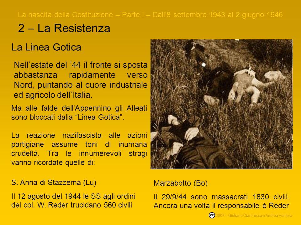 2 – La Resistenza La Linea Gotica