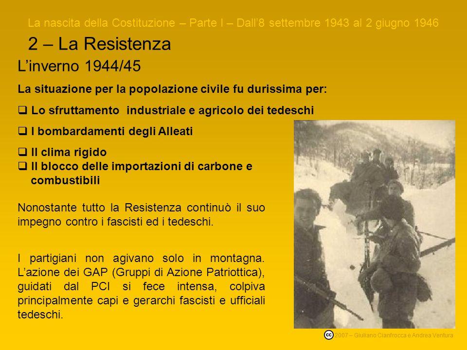 2 – La Resistenza L'inverno 1944/45