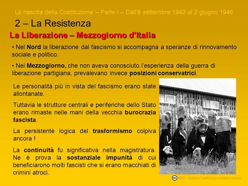 2 – La Resistenza La Liberazione – Mezzogiorno d'Italia
