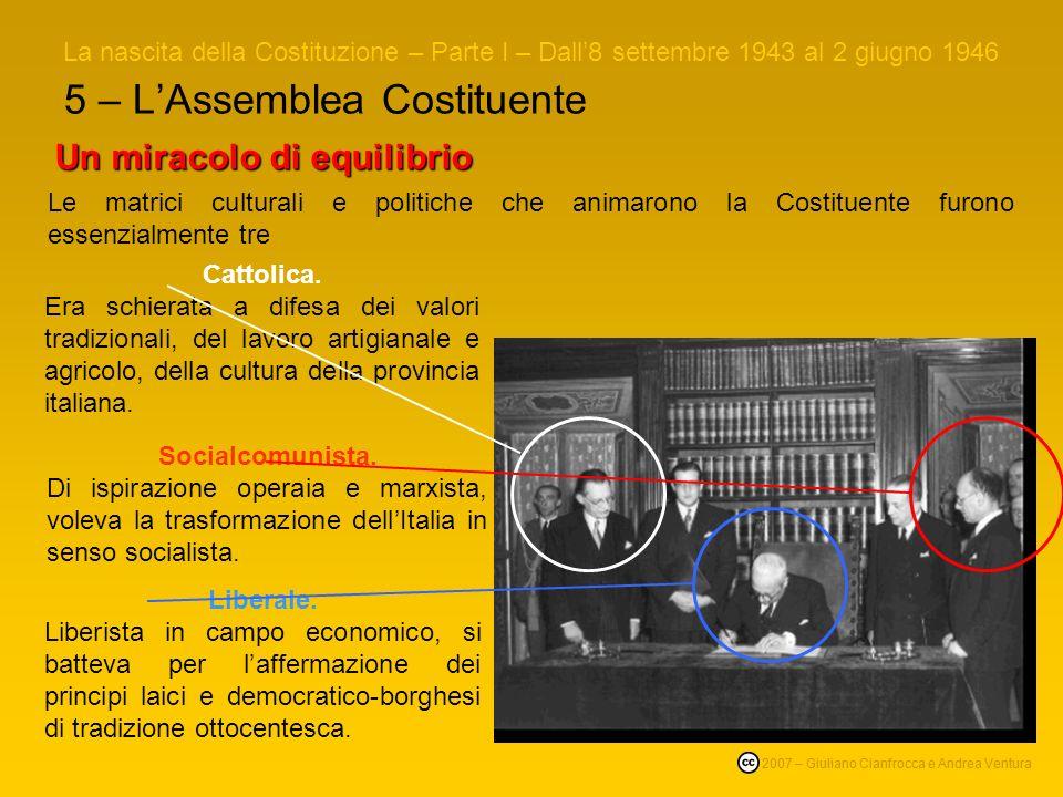 5 – L'Assemblea Costituente