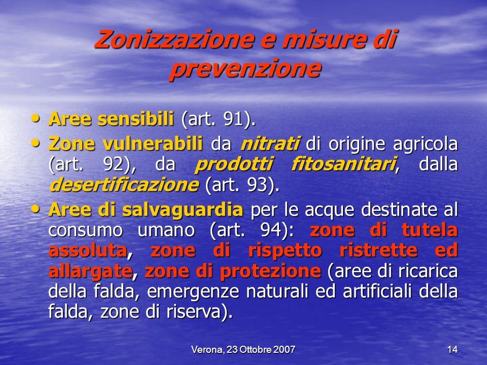 Zonizzazione e misure di prevenzione