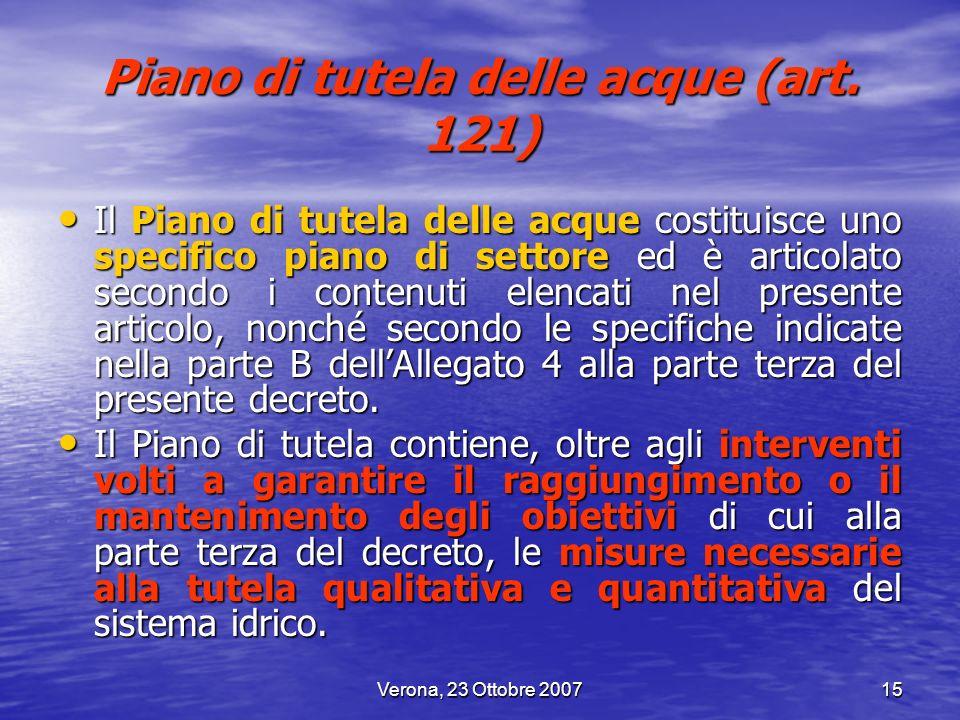 Piano di tutela delle acque (art. 121)