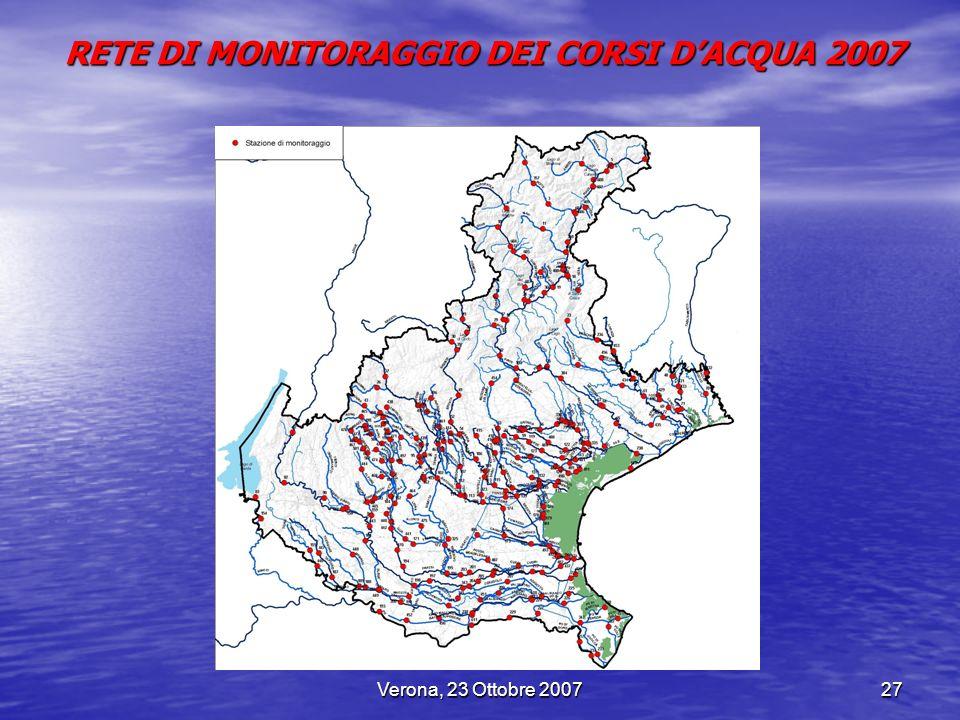 RETE DI MONITORAGGIO DEI CORSI D'ACQUA 2007