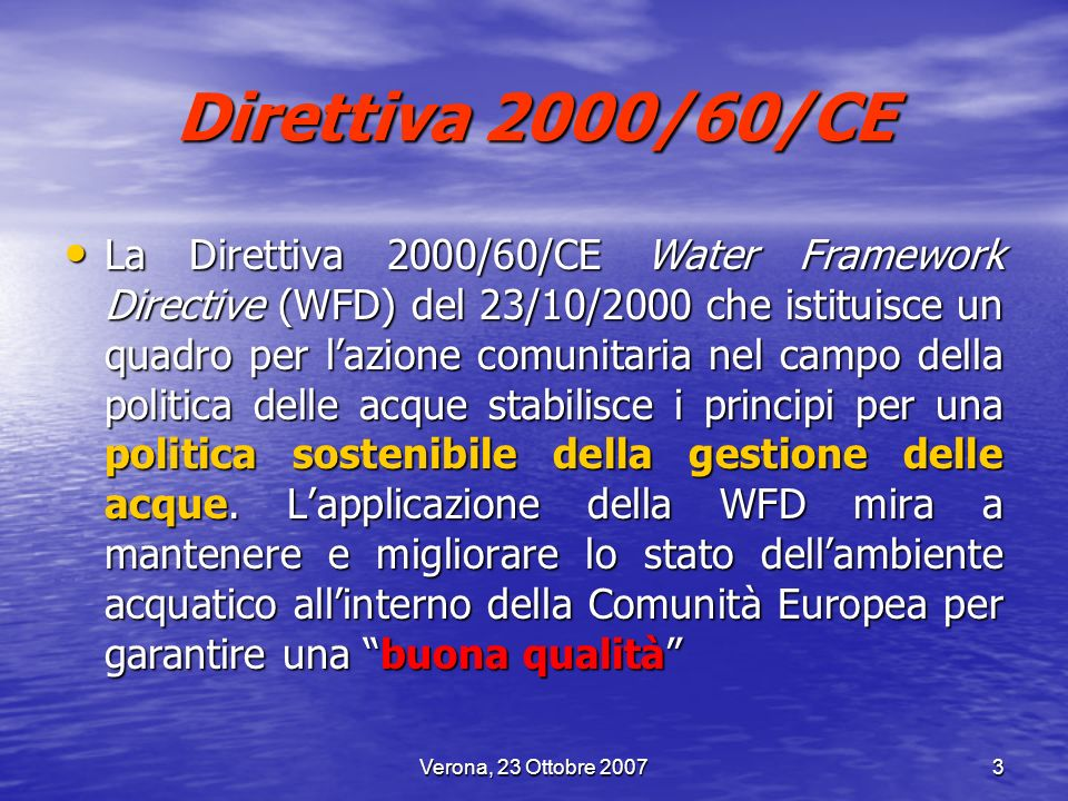 Direttiva 2000/60/CE