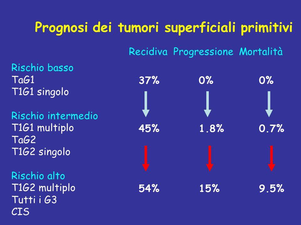 Prognosi dei tumori superficiali primitivi