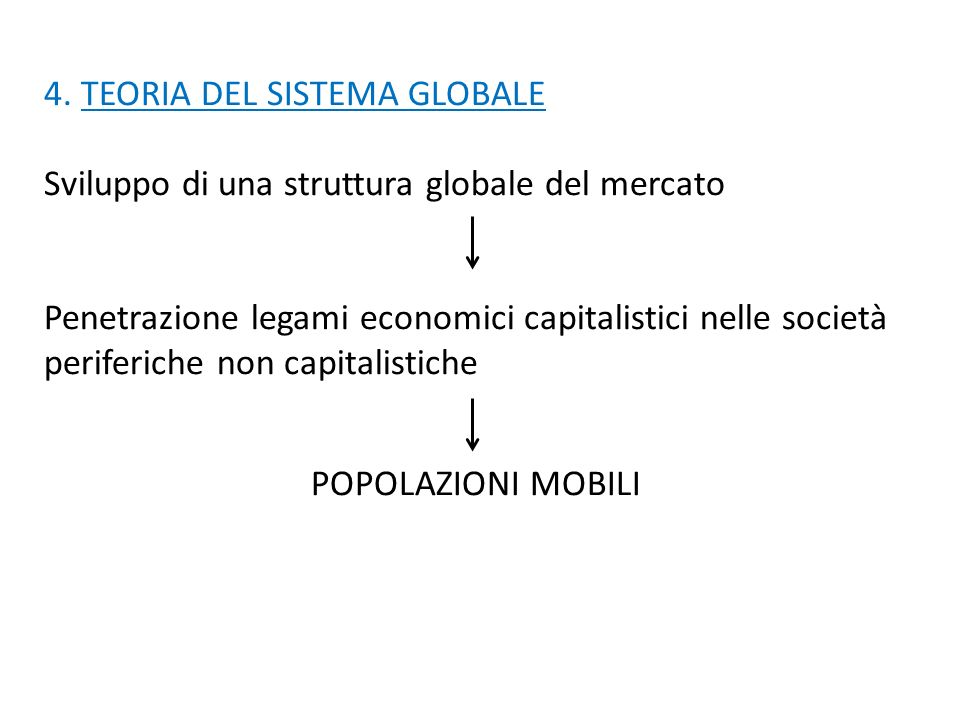 4. TEORIA DEL SISTEMA GLOBALE