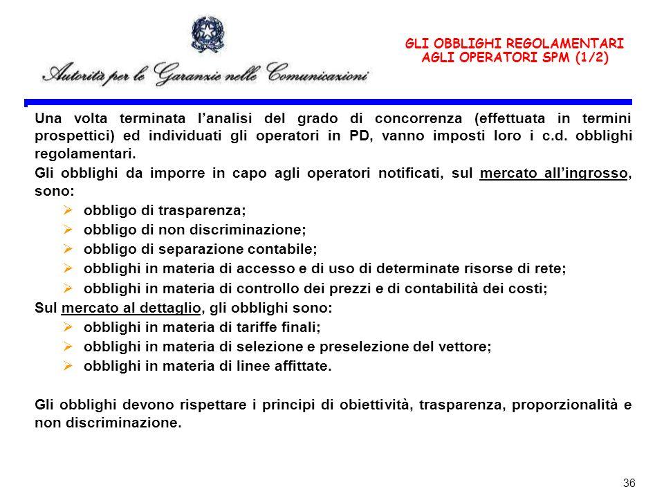 GLI OBBLIGHI REGOLAMENTARI AGLI OPERATORI SPM (1/2)