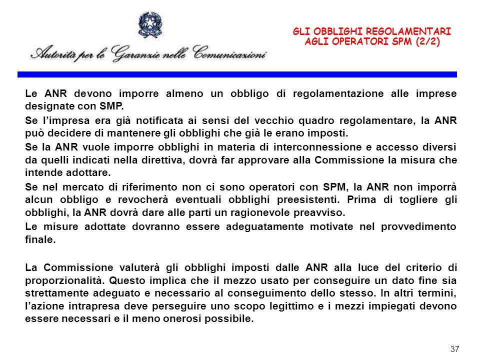 GLI OBBLIGHI REGOLAMENTARI AGLI OPERATORI SPM (2/2)