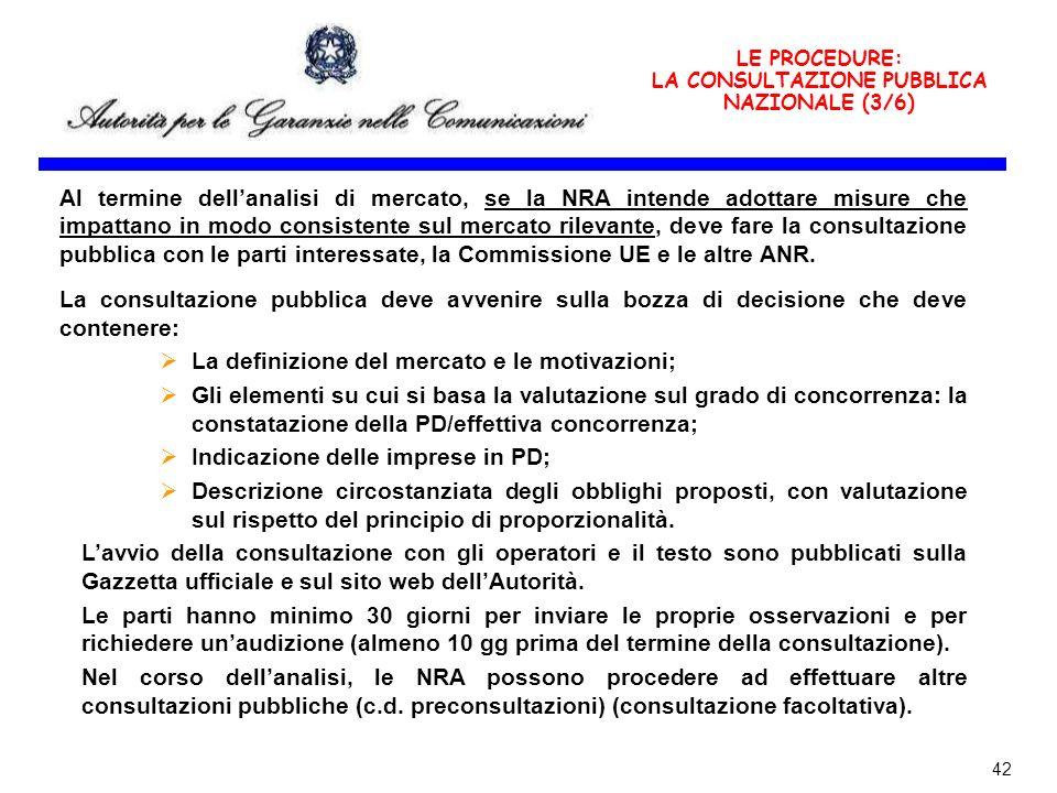 LA CONSULTAZIONE PUBBLICA NAZIONALE (3/6)