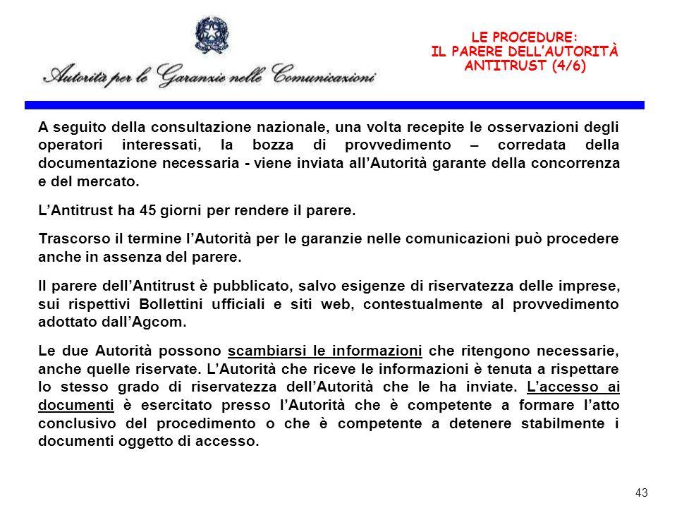 IL PARERE DELL'AUTORITÀ ANTITRUST (4/6)