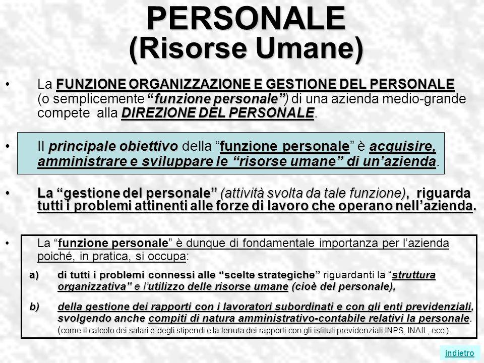 PERSONALE (Risorse Umane)