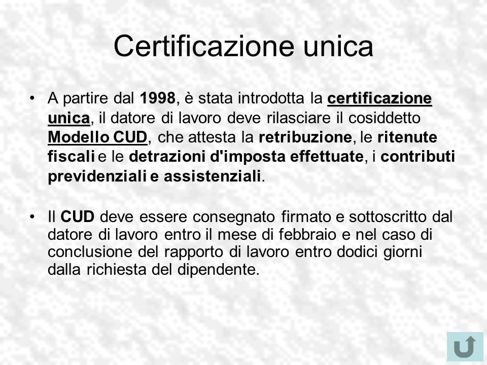 Certificazione unica