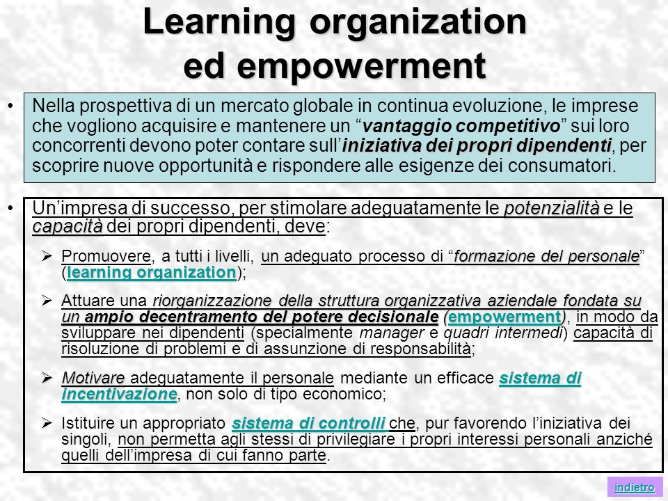 Learning organization ed empowerment