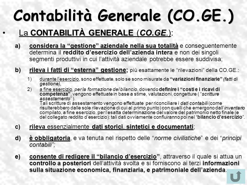 Contabilità Generale (CO.GE.)