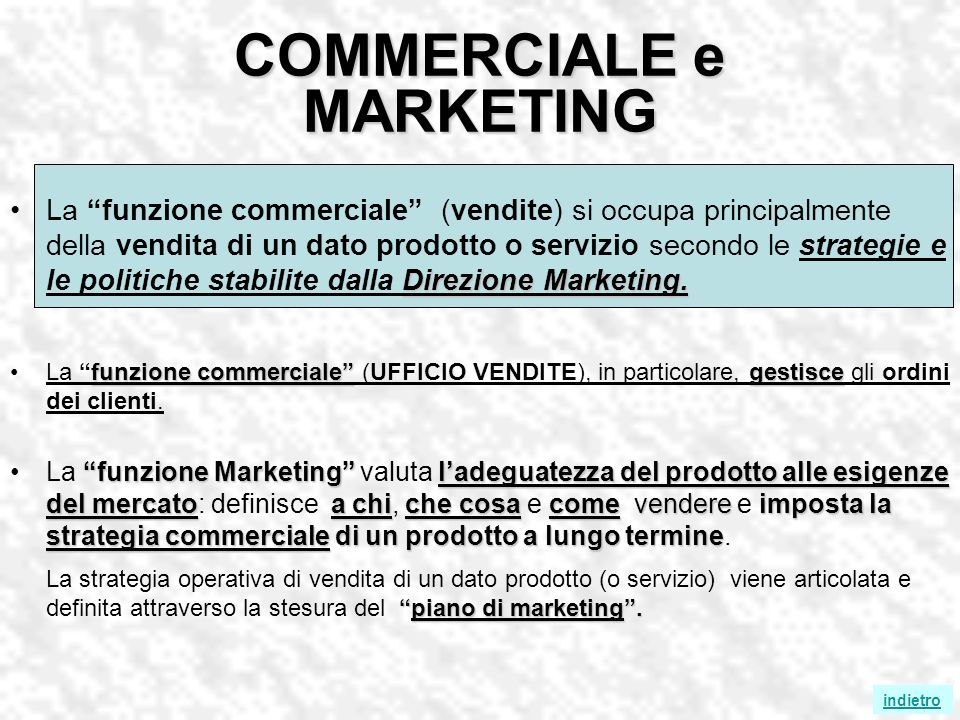 COMMERCIALE e MARKETING