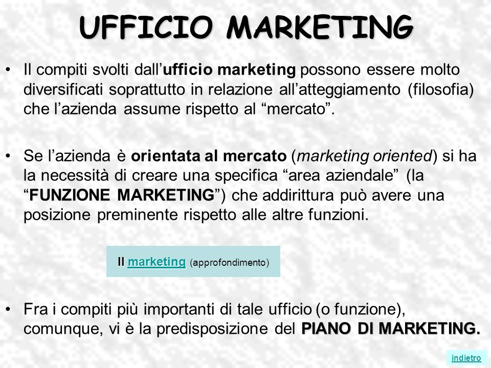 Il marketing (approfondimento)