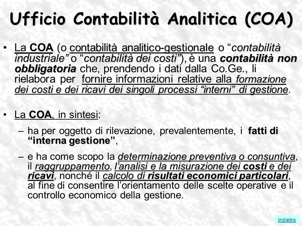 Ufficio Contabilità Analitica (COA)