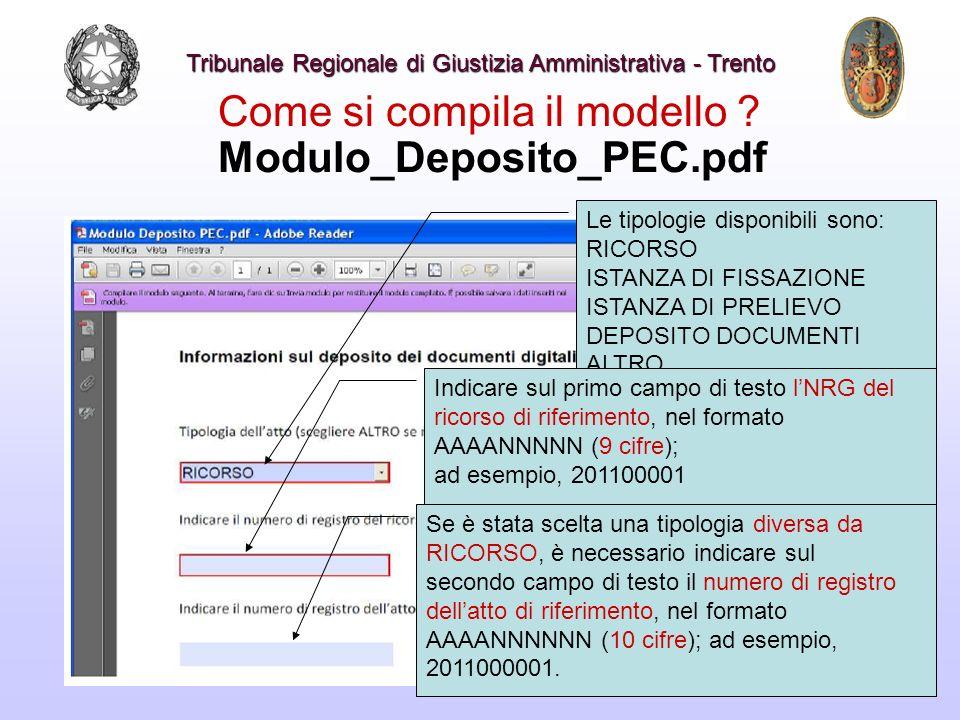 Come si compila il modello Modulo_Deposito_PEC.pdf
