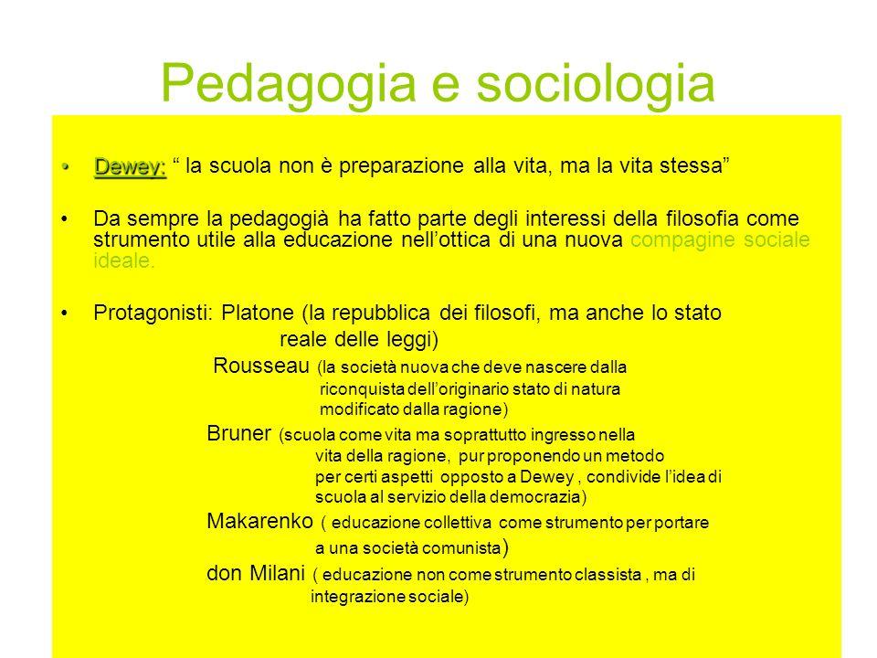 Pedagogia e sociologia