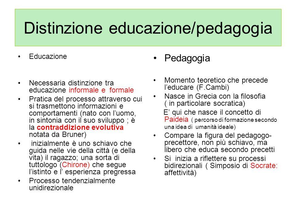 Distinzione educazione/pedagogia