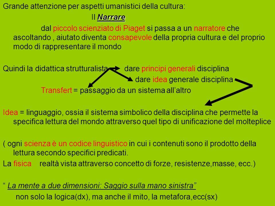 Grande attenzione per aspetti umanistici della cultura: