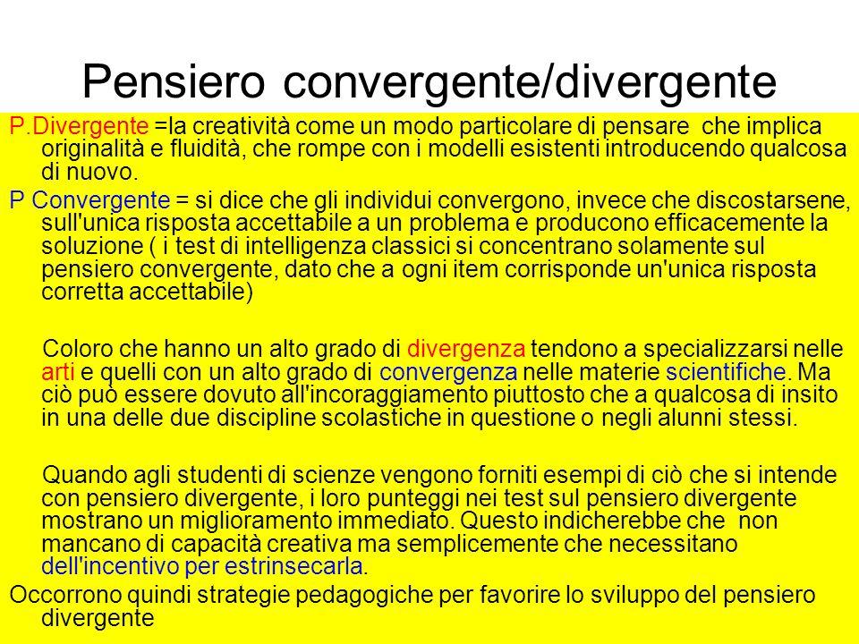 Pensiero convergente/divergente